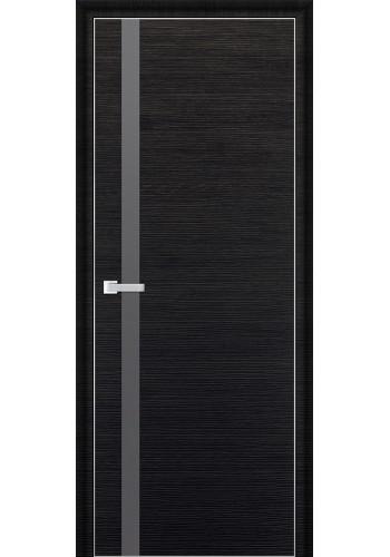 Дверь Профиль Дорс 6D Черный Браш Стекло Серебряный Лак