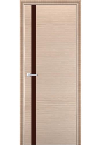 Дверь Профиль Дорс 6D Капучино Браш Стекло Коричневый Лак
