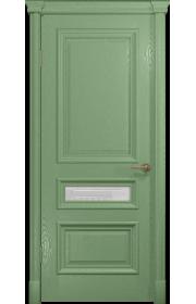 Двери Арт Деко Аттика 2-3 Фисташка Стекло Гравировка