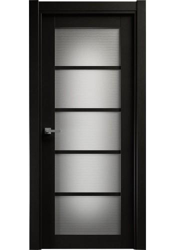 Двери Статус 122 Дуб черный стекло Канны
