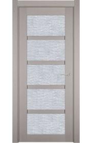 Двери Статус 122 Дуб белый стекло Канны
