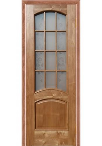 Дверь Покрова Леон М Светлый орех стекло бронза с гравировкой