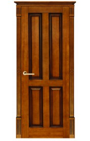 Дверь ПМЦ 15 ДГФ темный лак+патина ДГ