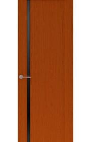 Двери Океан Буревестник 1 Красное дерево Стекло черное