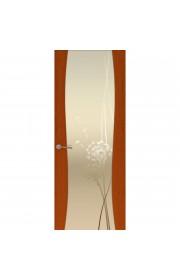 Двери Океан Буревестник-2 Одуванчик Красное дерево Стекло белое