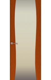 Двери Океан Буревестник-2 Красное дерево Стекло белое