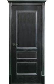 Двери Белоруссии Вена Черная патина с серебром ДГ