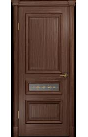 Двери Арт Деко Аттика 2-3 Американский орех Витраж Калипсо