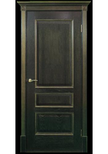 Двери Белоруссии Вена Черная патина с золотом ДГ