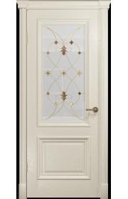 Двери Арт Деко Аттика-1 Аква витраж Калипсо