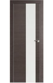 Двери Арт Деко Ветра 1 Беленый дуб Стекло бронза с рисунком