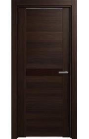 Двери Статус 411 Орех стекло Лакобель коричневое