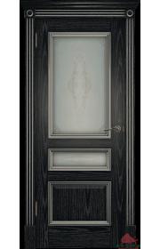 Двери Белоруссии Вена Черная патина с серебром ДО