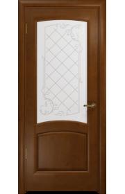 Двери Арт Деко Парма Итальянский орех Стекло светлое