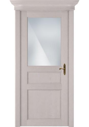 Двери Статус 532 Дуб белый Сатинато белое матовое