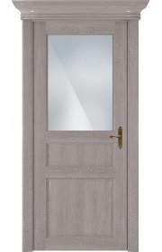 Двери Статус 532 Грей стекло Сатинато белое матовое