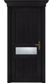 Двери Статус 534ГР Дуб черный стекло Грань