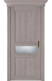 Двери Статус 534 Грей стекло Сатинато белое матовое