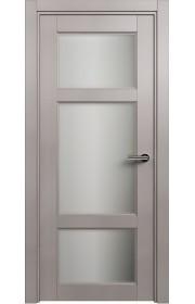 Двери Статус 542 Грей стекло Сатинато белое матовое