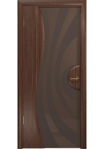 Двери Арт Деко Ветра 1 Американский орех Стекло бронза с рисунком