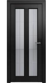 Двери Статус 612 Дуб черный стекло Английская решетка