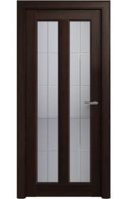 Двери Статус 612 Орех стекло Английская решетка