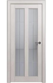 Двери Статус 612 Дуб белый стекло Английская решетка