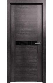 Двери Статус 411 Венге пепельный стекло Лакобель черное
