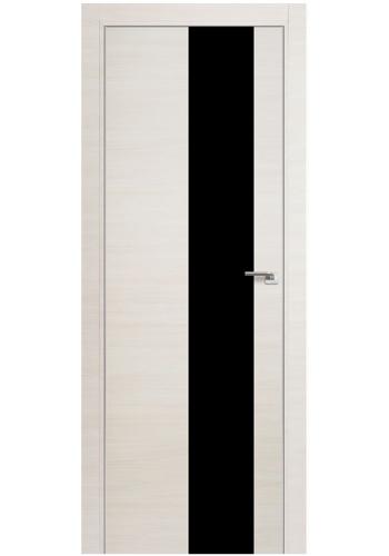 Дверь Профиль Дорс 5Z Эш Вайт Кроскут Стекло черное