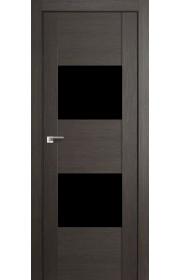 Двери Профиль Дорс 21X Грей Мелинга Стекло черное