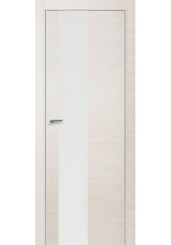 Дверь Профиль Дорс 5Z Эш Вайт Кроскут Стекло белое