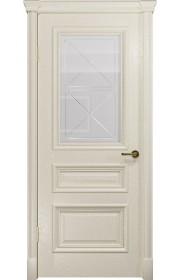 Двери Арт Деко Аттика 2-1 Аква Стекло Гравировка